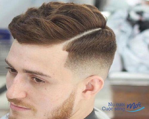 Mặt chữ điềnnam hợp với kiểu tóc nào