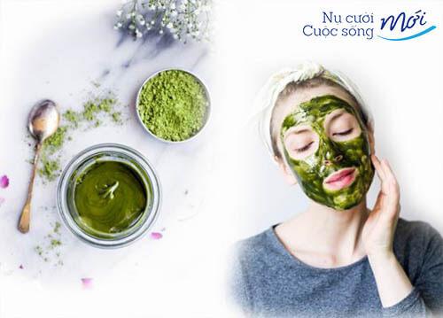 Cách chữa mụn ẩn bằng bột trà xanh
